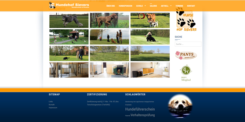 Hundehof Sievers (Internetseite)